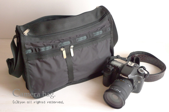 レスポのバッグをカメラバッグに♪