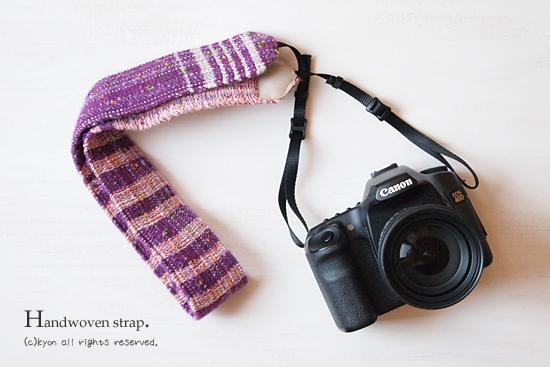 手織りのカメラストラップ♪