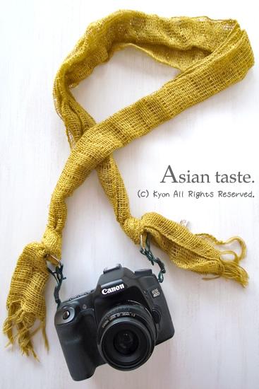アジアンストールで作る、一眼レフ用カメラストラップ