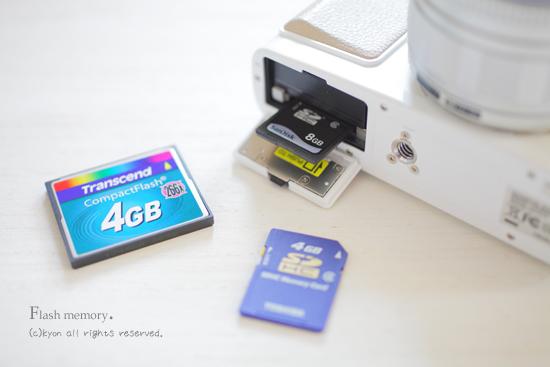 SDカードやコンパクトフラッシュは長期保存には向かない。